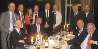 Photograph of a group of Old Boys at the 2011 Reunion Dinner